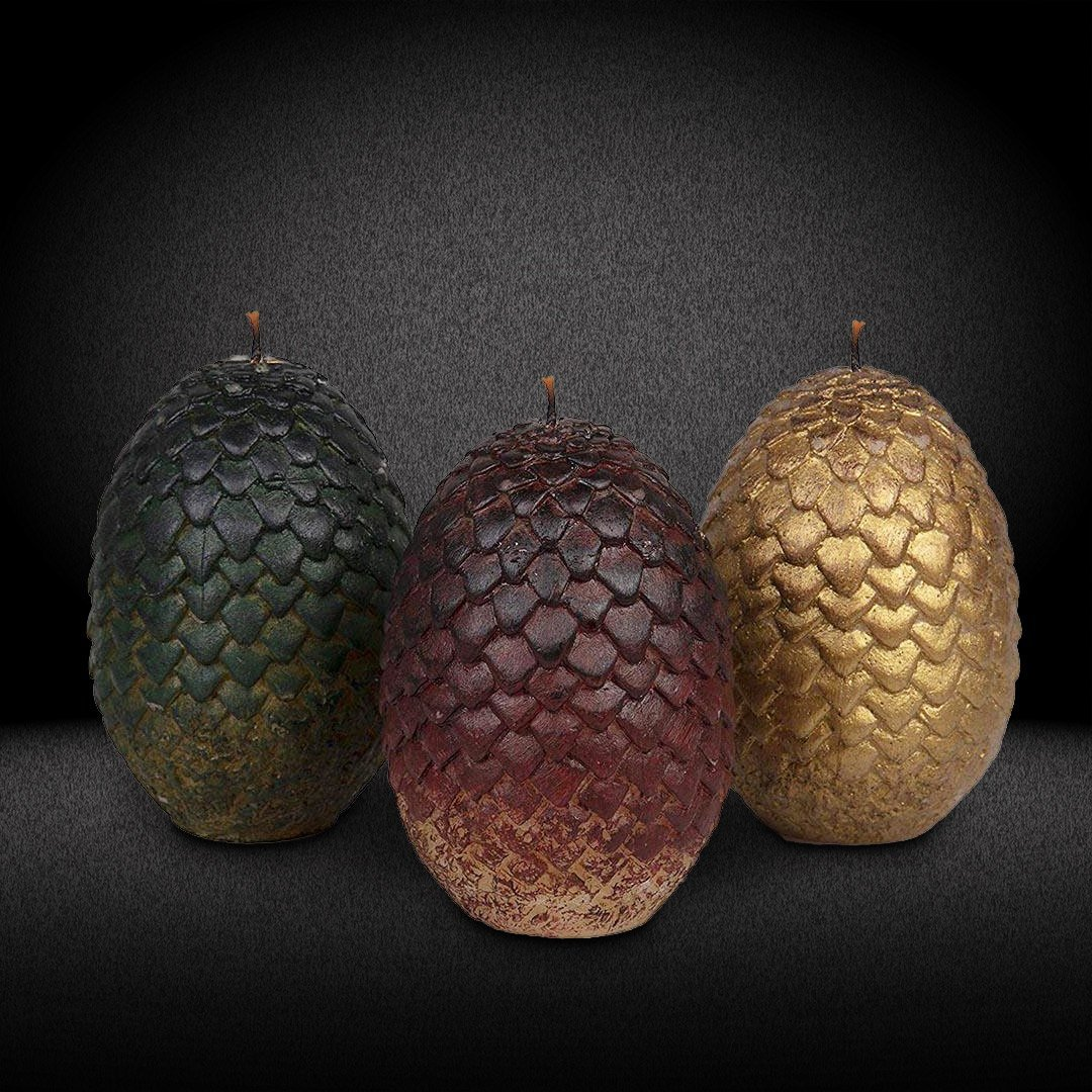 GAME OF THRONES SET OF 3 DRAGON EGG CANDLES
