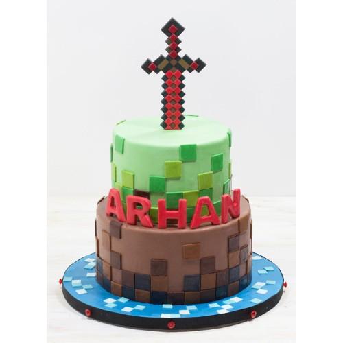 Minecraft birthday cake for kids