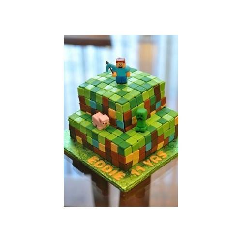Minecraft birthday cake adult
