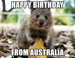 Happy Birthday From Australia (Funny Images)